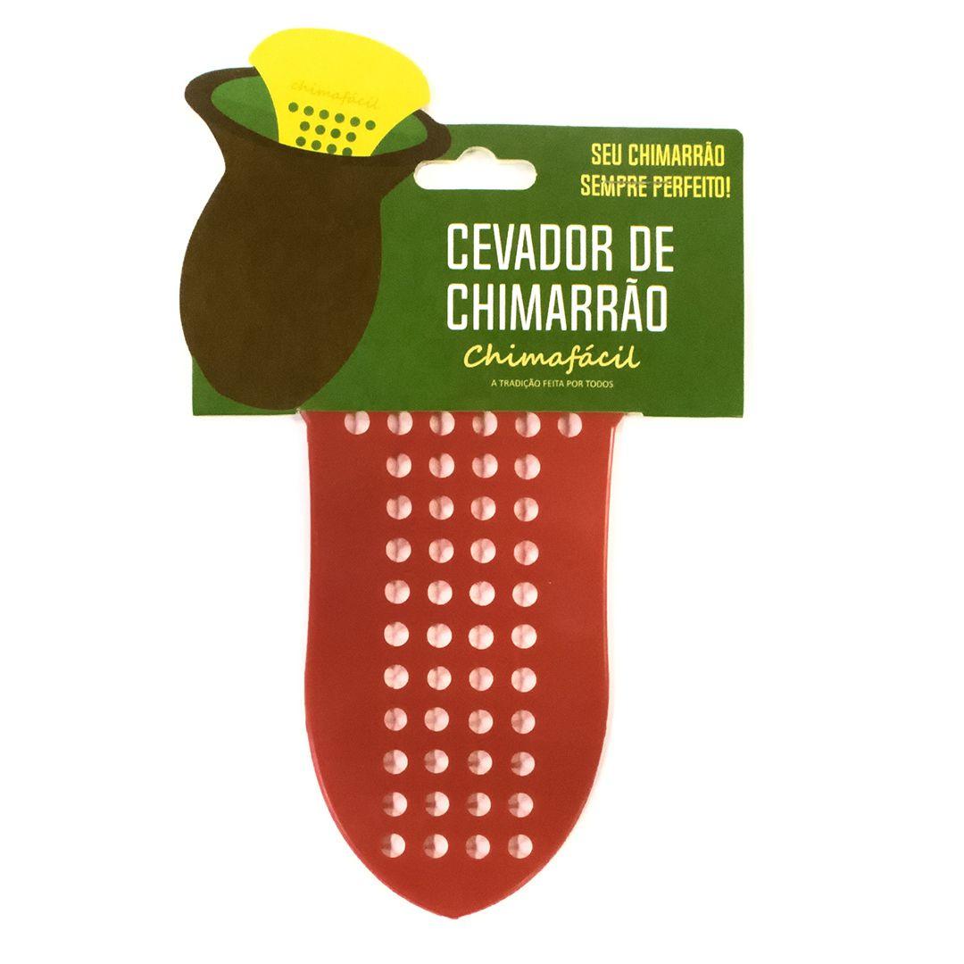 Cevador de chimarrão Chimafácil Vermelho | Modelo Largo