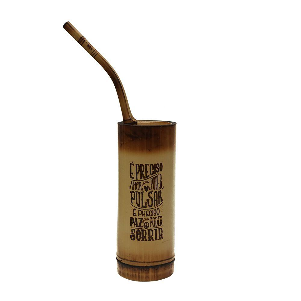 Copo de Bambu para Tereré - Frase 1