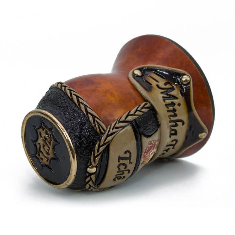 Cuia de Chimarrão Tradicional Marrom - Minha Tradição