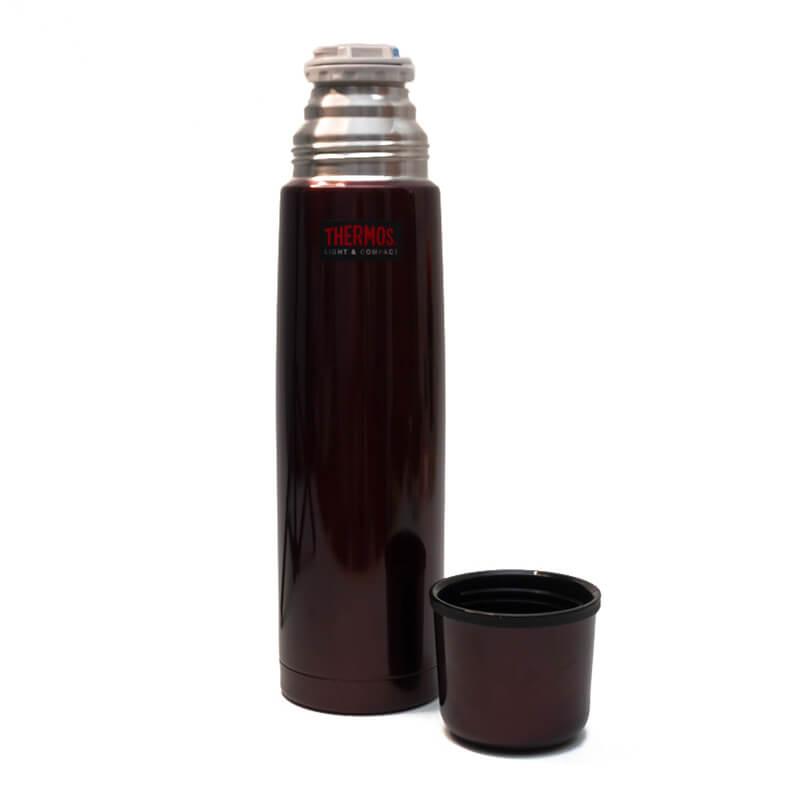 Garrafa Térmica em Inox 1 litro - Thermos - Cairo Vermelha