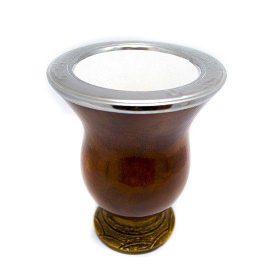 Kit de Chimarrão Tradicional | Cuia Bocal Inox e Bomba RS