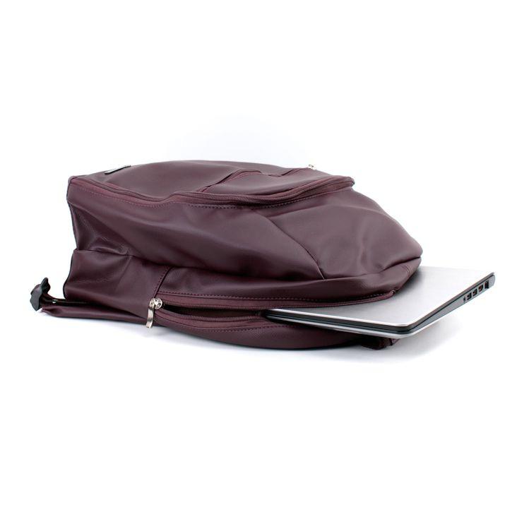 Mateira Mochila para chimarrão - Matebag - Corino Marsala com divisória para notebook