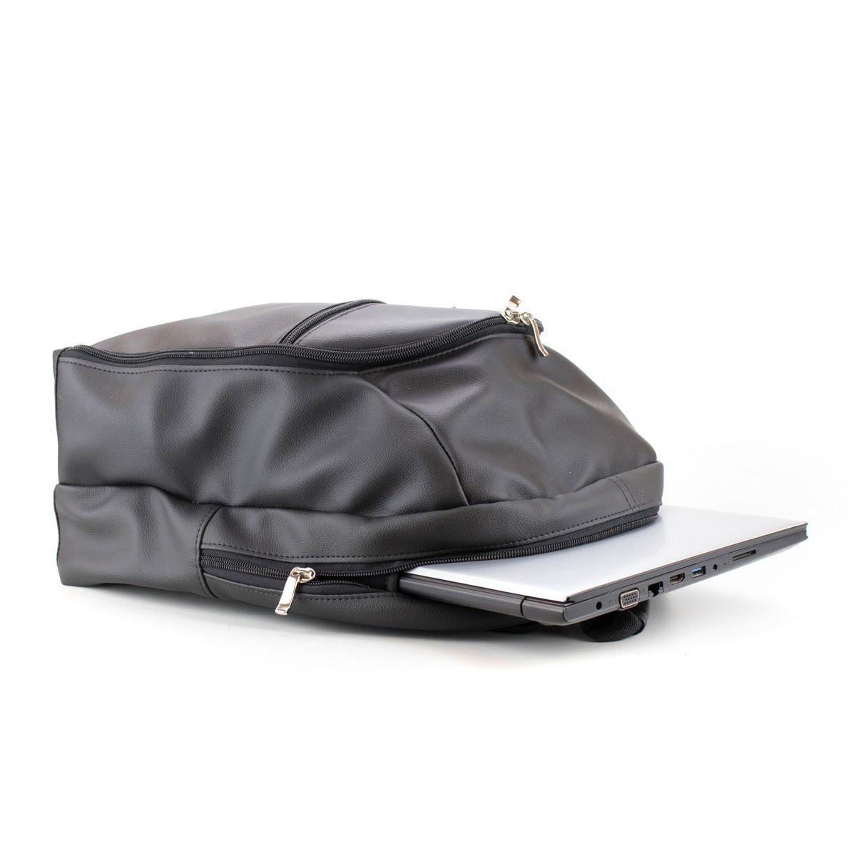 Mateira Mochila para chimarrão - Mtebag - Corino Preta com divisória de notebook