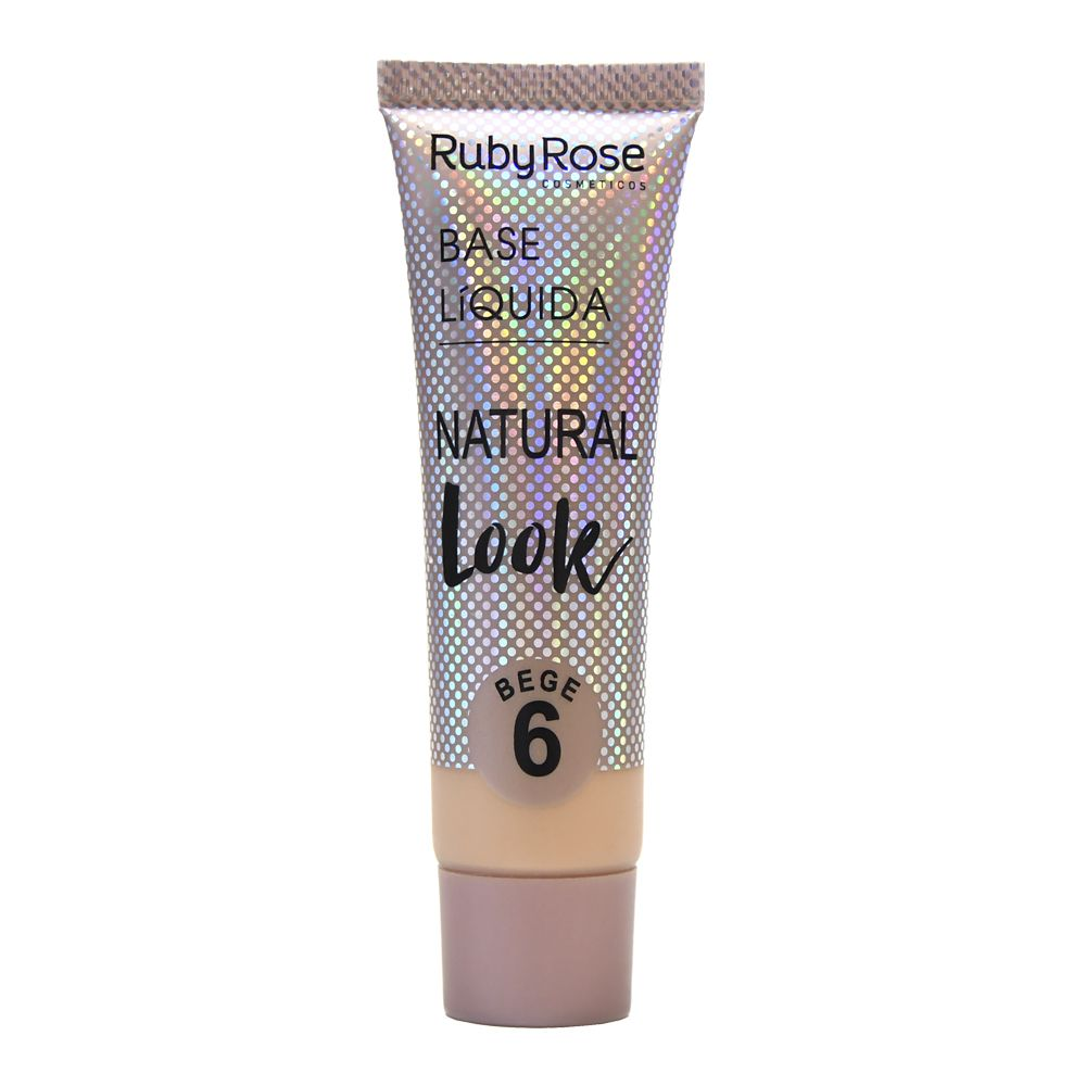 Base Líquida Natural Look Bege 6 Ruby Rose HB-8051