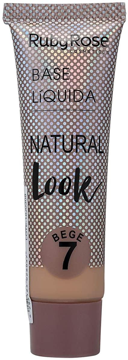 Base Líquida Natural Look Bege 7 Ruby Rose HB-8051