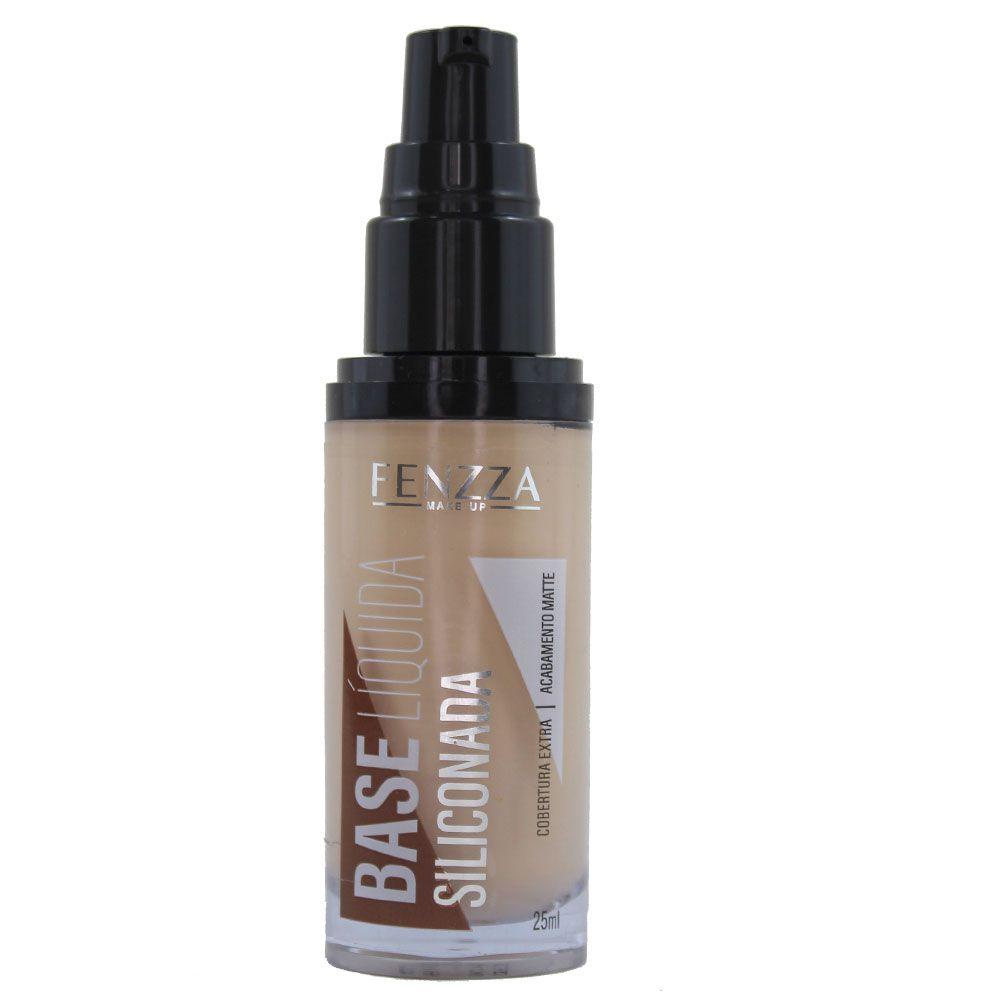 Base Líquida Siliconada Matte Fenzza Makeup FZ35006 - Cor 01