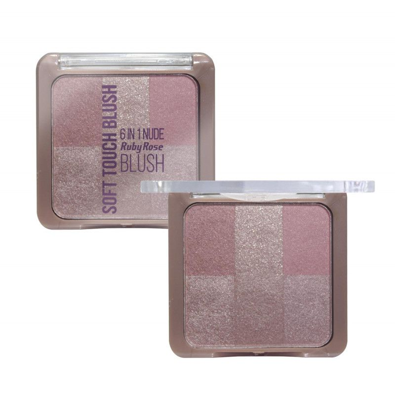 Blush Soft Touch 6 em 1 Ruby Rose HB-6109 - Cor 02