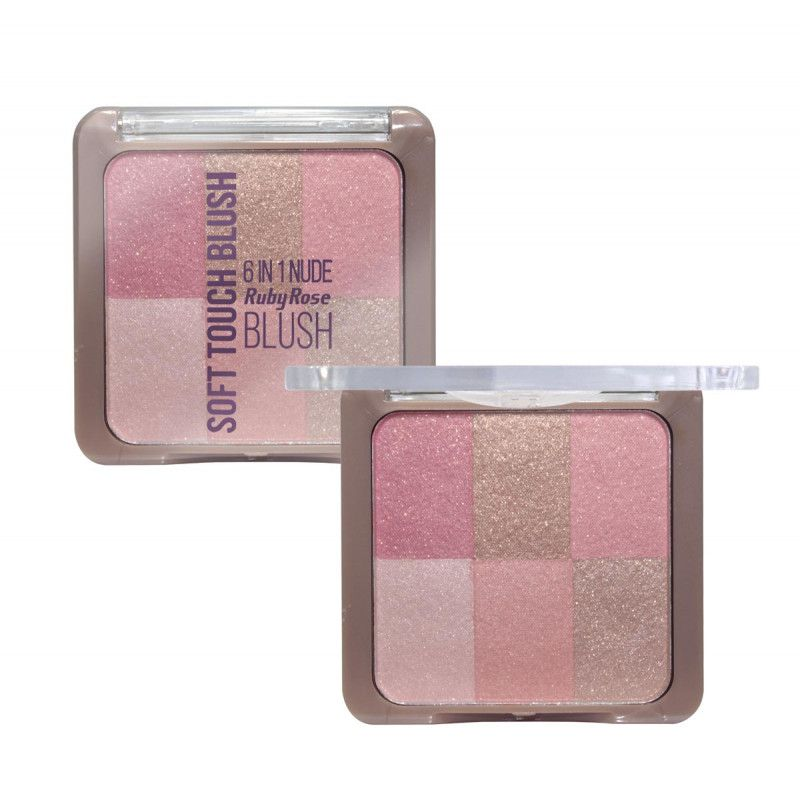 Blush Soft Touch 6 em 1 Ruby Rose HB-6109 - Cor 03