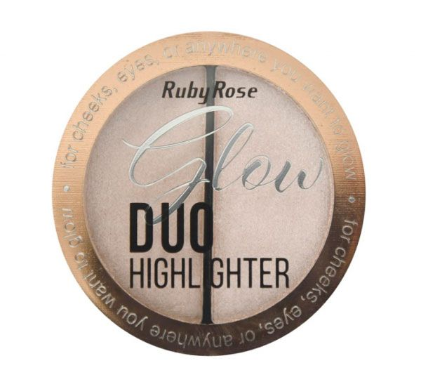 Iluminador Glow Duo Highlighter Ruby Rose HB-7522 Cor 1