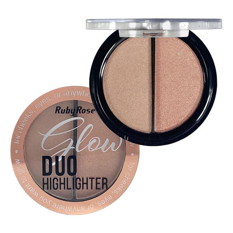 Iluminador Glow Duo Highlighter Ruby Rose HB-7522 Cor 2