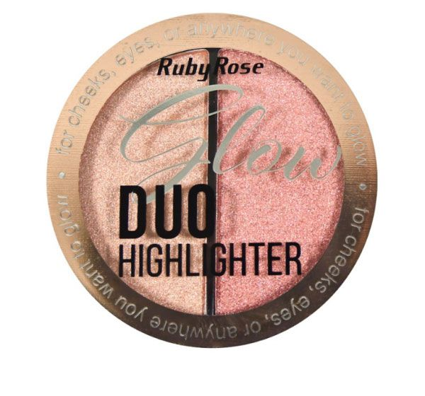 Iluminador Glow Duo Highlighter Ruby Rose HB-7522 Cor 4