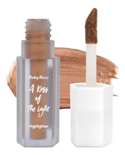 Iluminador Líquido A Kiss Of The Light Ruby Rose Bronz Cor 6