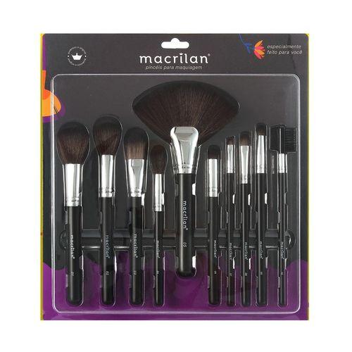 Kit 10 Pincéis Para Maquiagem Macrilan KP9-1B