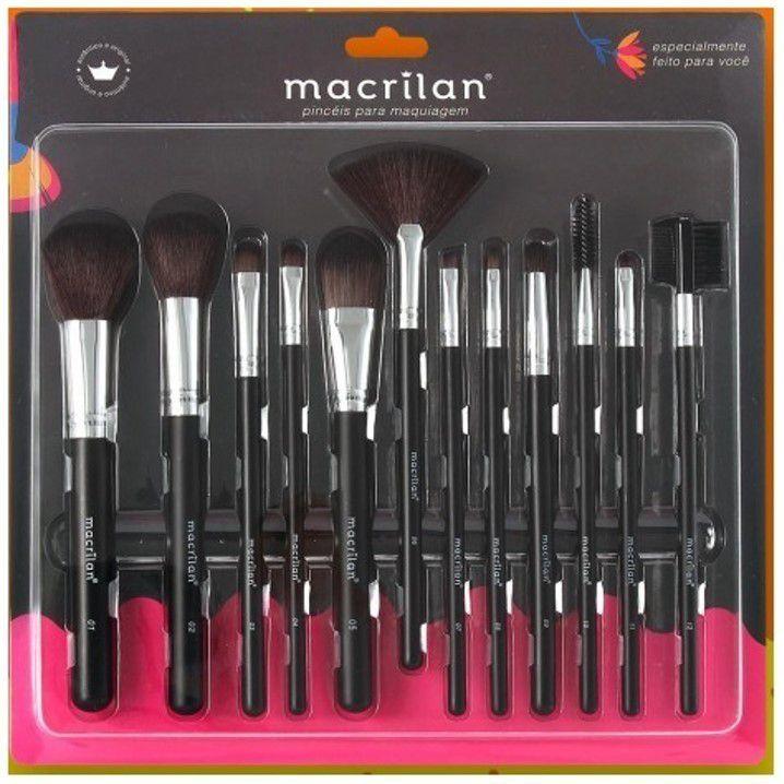 Kit 12 Pincéis Para Maquiagem Macrilan KP9-1A