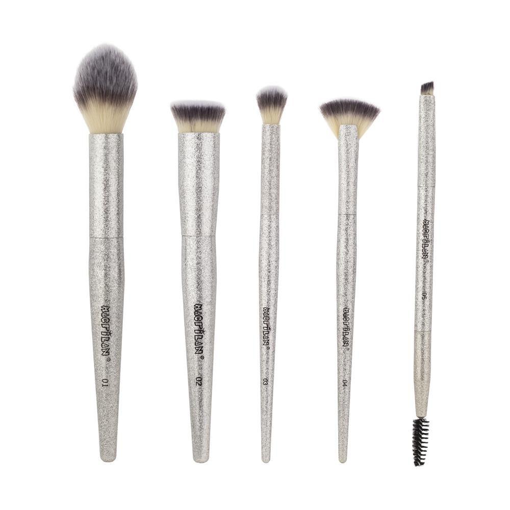 Kit 5 Pincéis Profissionais Para Maquiagem Luminous Macrilan ED800