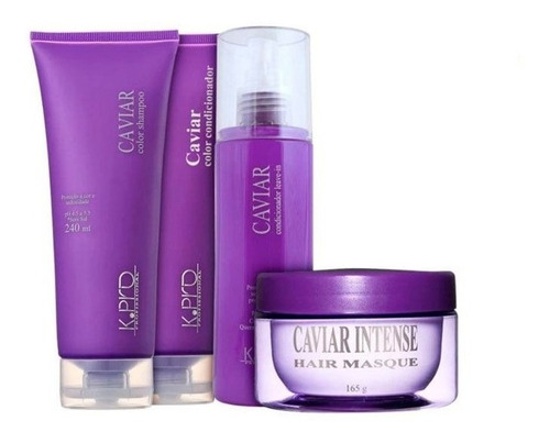 Kit Caviar K.Pro Shampoo, Condicionador, Leave-in e Máscara