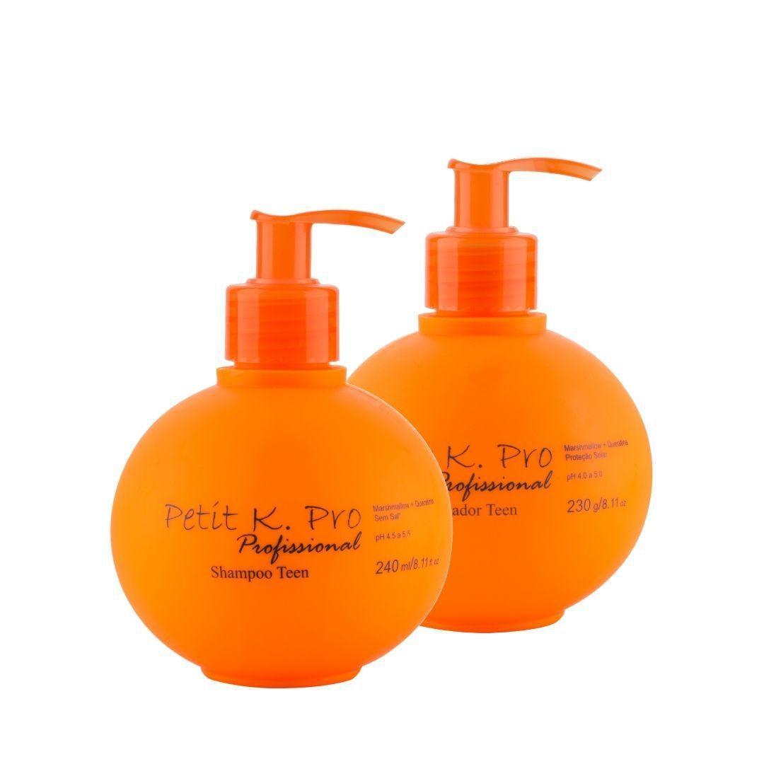 Kit PETIT K.Pro Shampoo e Condicionador Profissional Teen