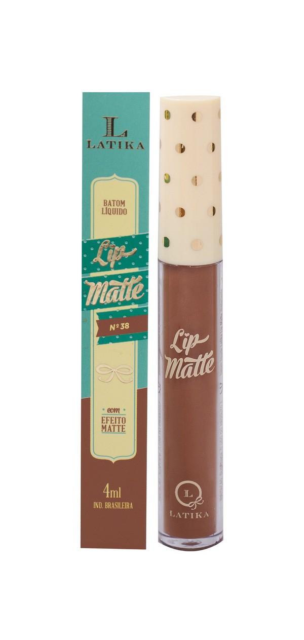 Latika Batom Liquido Matte Nude 4ml Cor 38