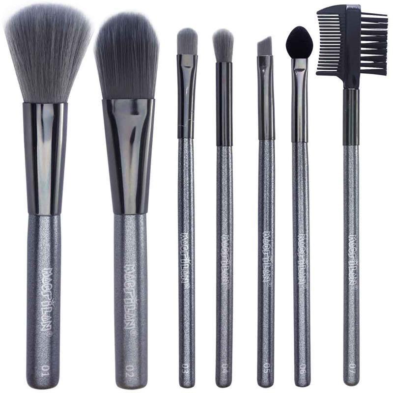 Macrilan Kit 7 Pincéis Maquiagem Profissional