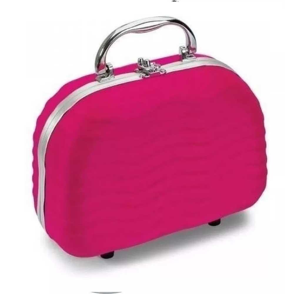 Maleta de Maquiagem Fenzza Completa Rosa