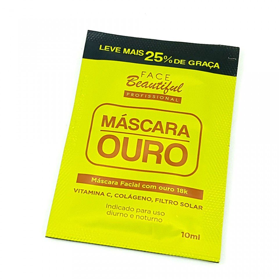 Máscara Ouro de Limpeza e Clareamento Face Beautiful 10ml