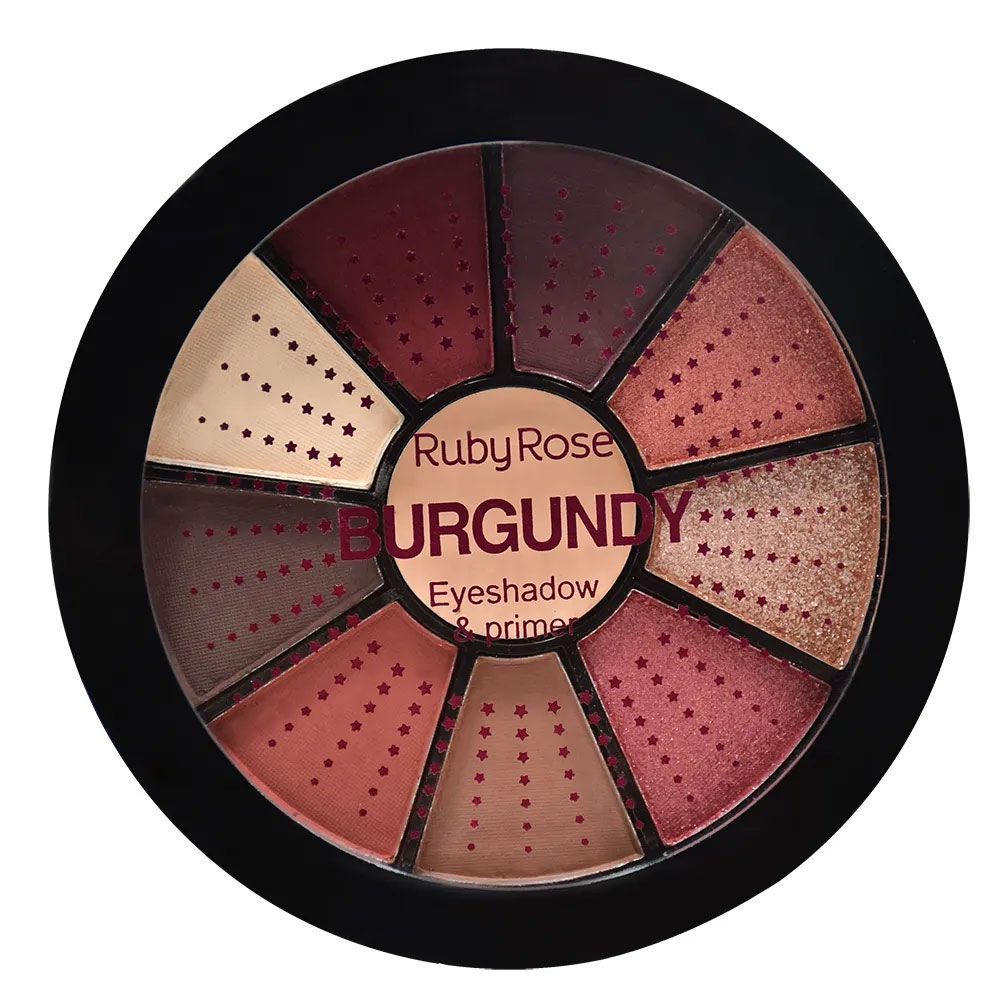 Mini Paleta De Sombras Burgundy Ruby Rose HB-9986/9