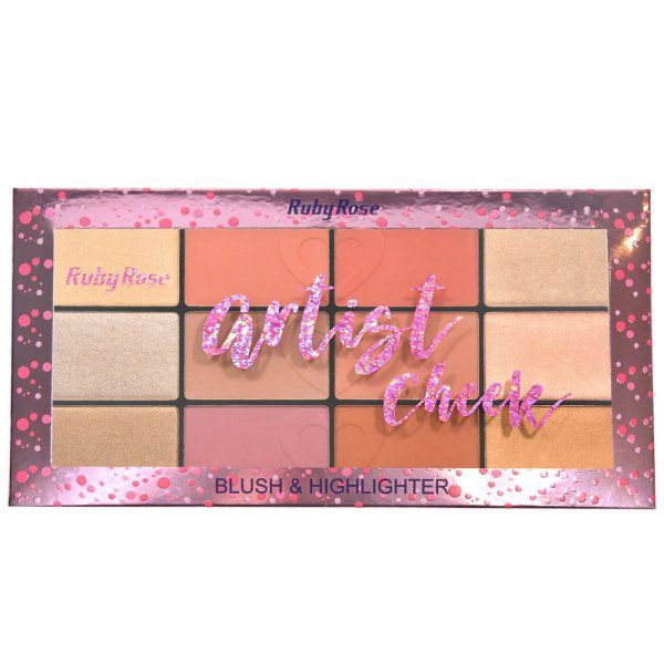 Paleta de Blush Artist Cheek Ruby Rose HB-7219