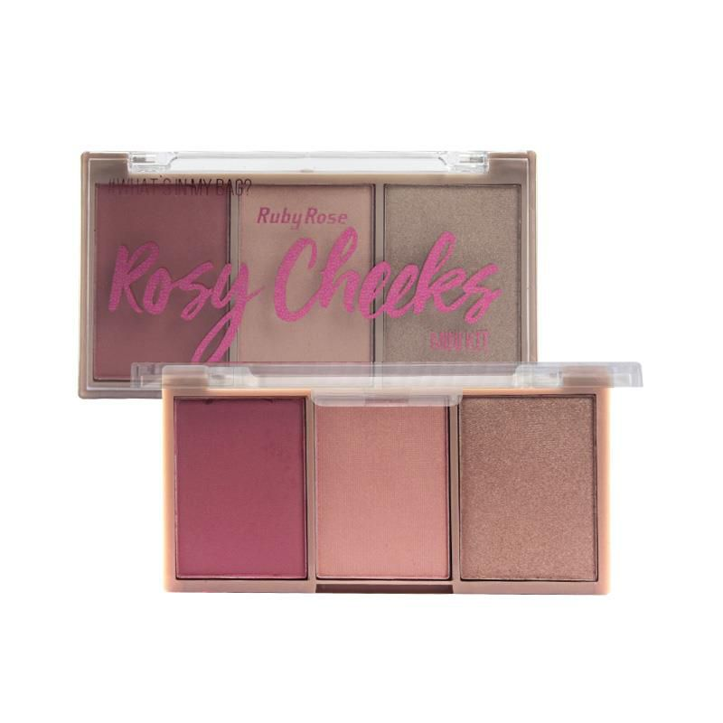 Paleta de Blush Rosy Cheeks Ruby Rose HB-6111 Cor 2