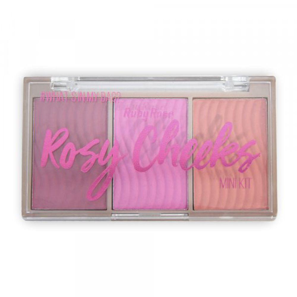 Paleta de Blush Rosy Cheeks Ruby Rose HB-6111 Cor 2