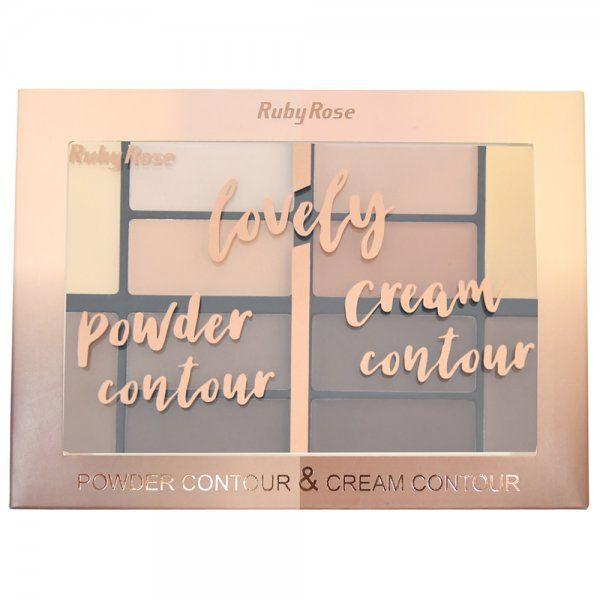 Paleta de Contorno Lovely Ruby Rose HB-8100