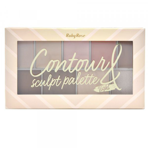 Paleta de Contorno Sculpt Light Ruby Rose HB-7517/L