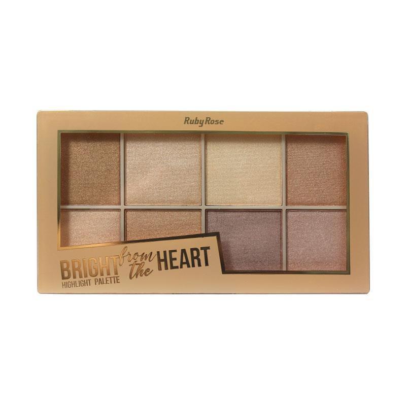 Paleta de Iluminador Bright from the Heart Ruby HB-7516