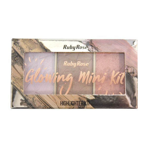 Paleta de Iluminador Glowing Ruby Rose HB-7215 Cor 4