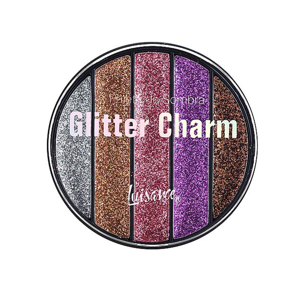 Paleta de Sombra Glitter Charm Luisance L6059 Cor A