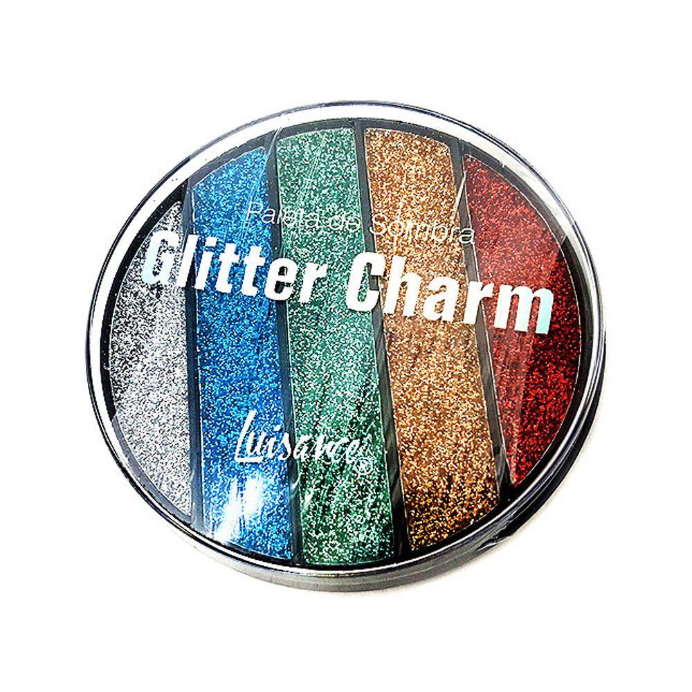 Paleta de Sombra Glitter Charm Luisance L6059 Cor B
