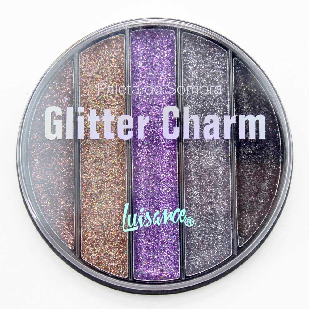 Paleta de Sombra Glitter Charm Luisance L6059 Cor C