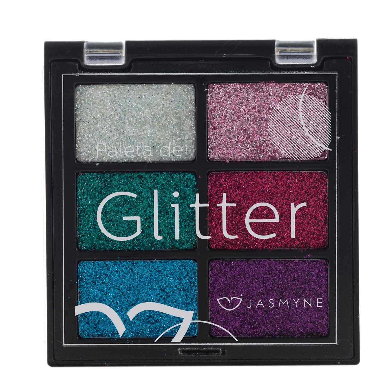 Paleta de Sombra Glitter Jasmyne Cor A