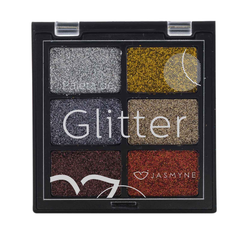 Paleta de Sombra Glitter Jasmyne Cor B