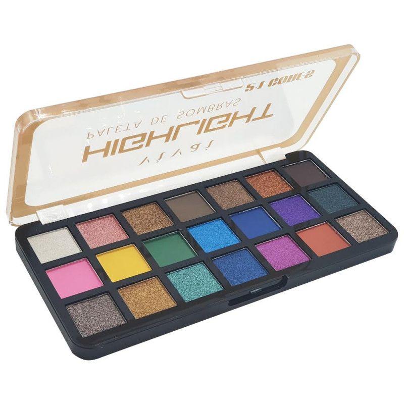 Paleta de Sombras Highlight 21 Cores Vivai 3000.1.1