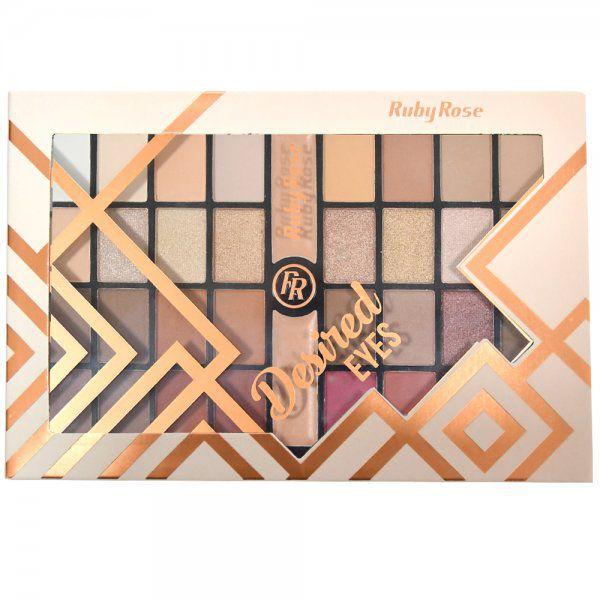 Paleta de Sombras Matte Desired Eyes Ruby Rose HB-9970