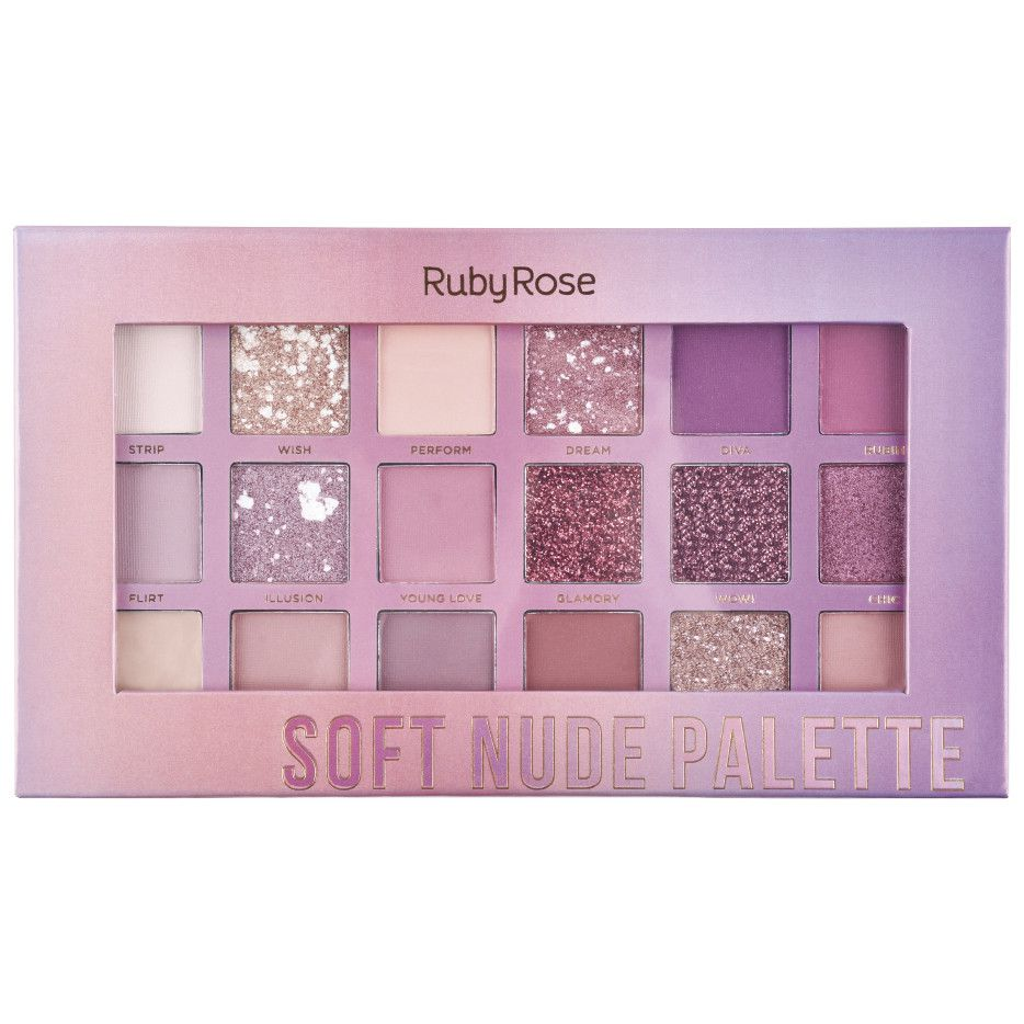 Paleta de Sombras Soft Nude Pallete Ruby Rose HB-1045
