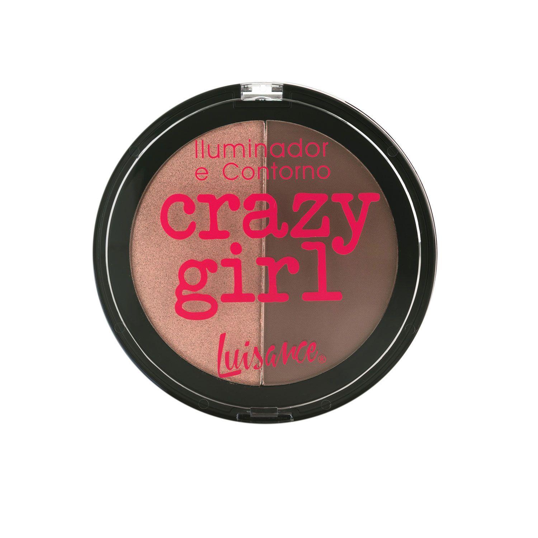 Paleta Iluminador e Contorno Crazy Girl Luisance L9008 Cor A