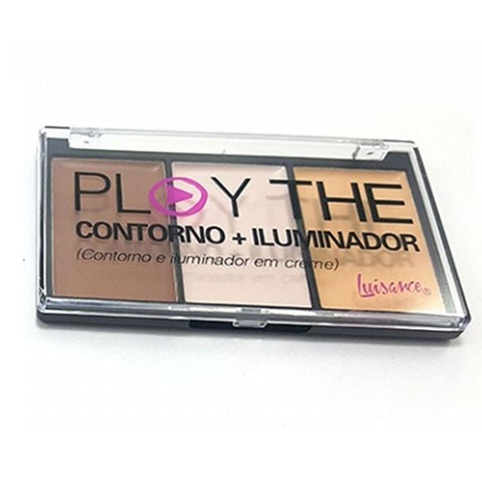 Paleta Play The Contorno e Iluminador Luisance L3050 Cor A