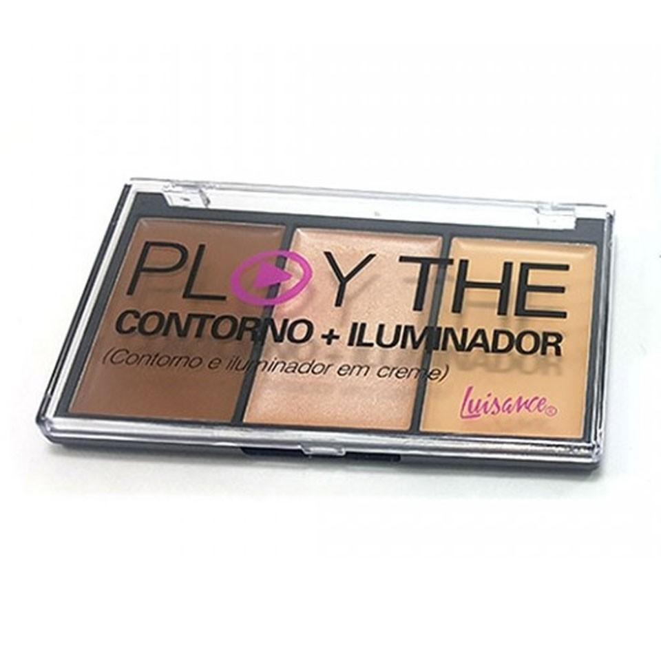 Paleta Play The Contorno e Iluminador Luisance L3050 Cor B