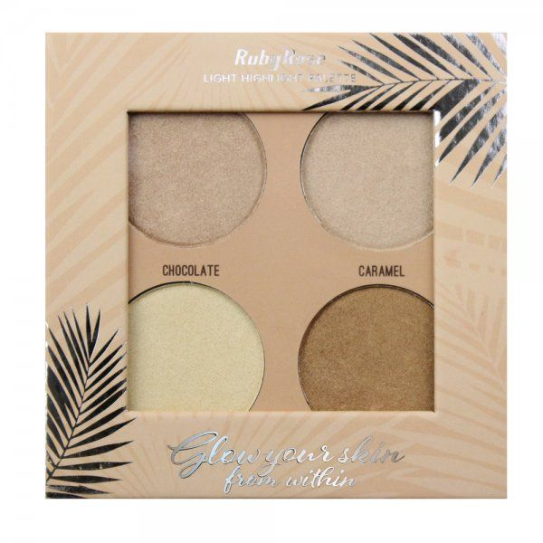 Ruby Rose Paleta Iluminador Glow Your Skin Light HB-7500