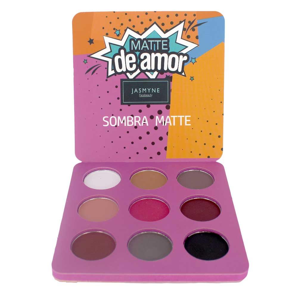 Sombra Matte Jasmyne Facebeauty 9 Cores V6029 Cor A
