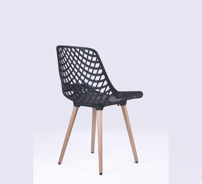 Cadeira Beau Design com Pés em Madeira - PACK COM 4 UNIDADES