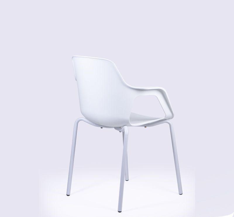 Cadeira Beau Fixa com Braços e Base  Pintada Conforme Cadeira