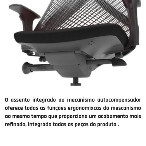 Cadeira Bix Preta Plaxmetal Giratória Ergonômica NR17