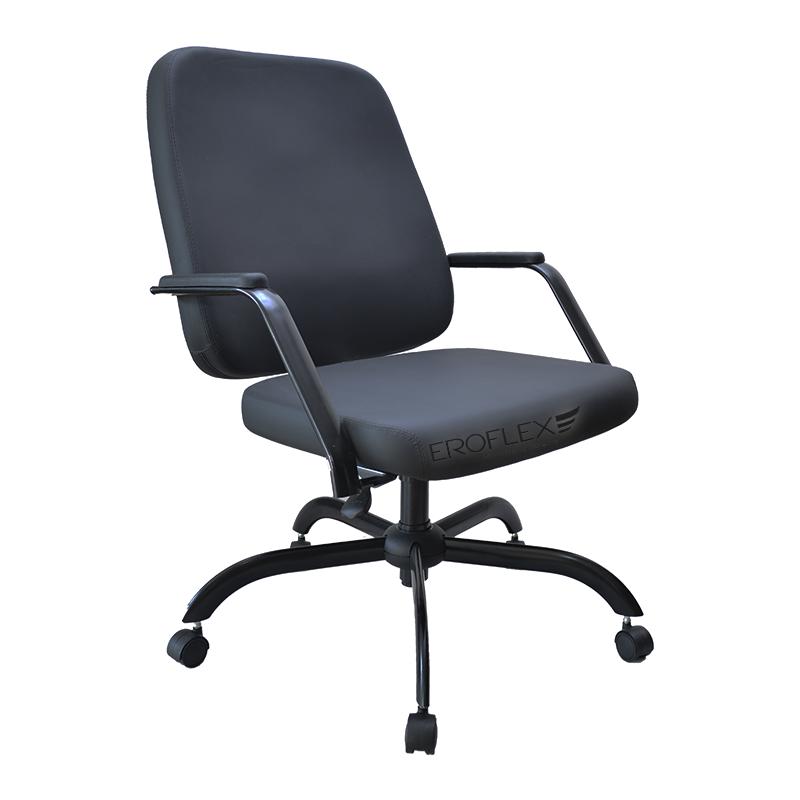 Cadeira/Poltrona Escritório Plus Size Reforçada Supor. 150KG Obeso